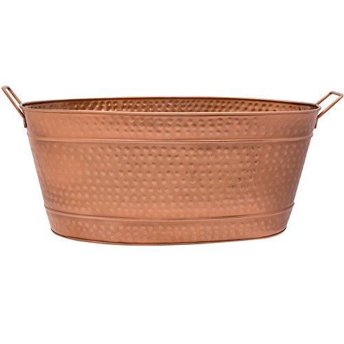 Achla Designs Oval Hammered Copper Plated Galvanized Tub by Achla (Image #3)