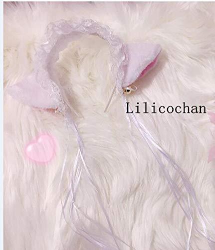 Fur Hair Clip | Hair Band | Cat Ear | Costume Halloween Set | Women/Maid/Bell/Choker/Necklace -