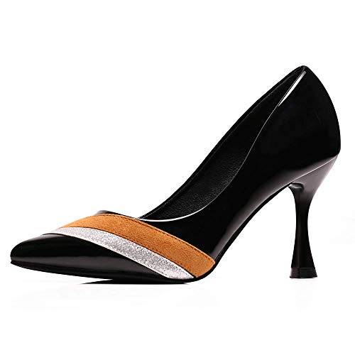 sorliva Womens Pointed Toe High Heel Black Sexy Stiletto Pump Office Lady Dress Shoes ()