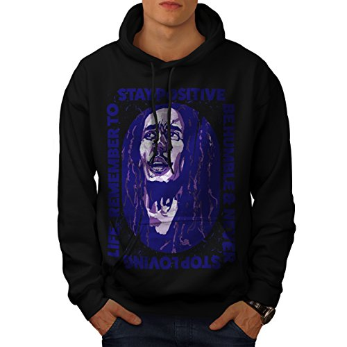 Marley Free Soul Stay Positive Men NEW XXXXXL Hoodie   Wellcoda (Stay Positive Hoodie compare prices)