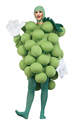 UHC Women's Grapes Fruit Healthy Food Funny Theme Adult Halloween Costume, OS ()