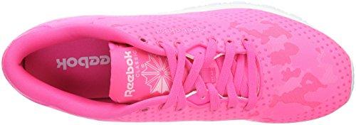 solar Sneaker white Pink Classic Rosa Donna Nylon Reebok Jacquard tq4YnO