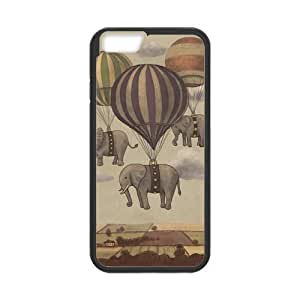"""Super Eastar iPhone 6 4.7"""" Cover,Protective Hard TPU Guard Case for Apple iPhone 6,Hot Air Balloon Elephant Pattern"""