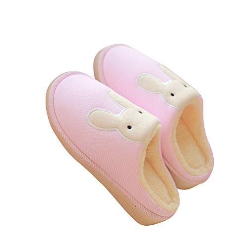 Women Cute Soft Rabbit Pink Hevinle Matching Couples Warm Men Slippers fgYqpw