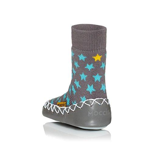 Stoney moccis river chaussons pour bébé en cuir chaussettes, mocassins