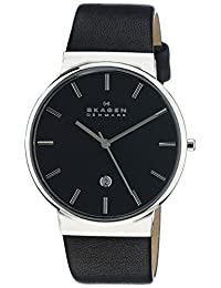 Skagen Men's SKW6104 Ancher Black Leather Watch