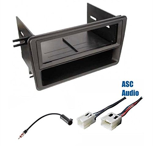 (Premium ASC Car Stereo Dash Install Kit, Wire Harness, and Antenna Adapter for Installing a Single Din Aftermarket Radio for select Nissan/Infiniti Vehicles - Compatible Vehicles Listed Below)