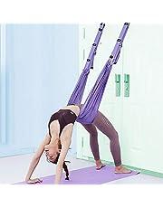 XiYee Yoga hangmat, trapeziumschommelset, yoga-schommel, nylon, anti-zwaartekracht, hangmat, sling inversie voor pilates, gymnastiek, training, verticale schommel, acrobatiek doek, stoffen accessoires (A)