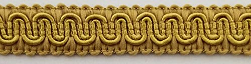 """1/2"""" Scroll Braid Gimp w/Backing - 12 Continuous Yards - Many Color Options! (Aztec Gold)"""
