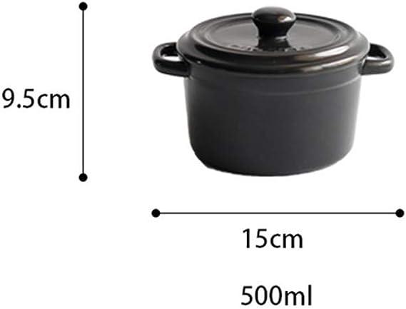 Ramekins de cerámica con tapas, platos al vapor de huevo para su flan, helado y soufflé, juego de 2 ensalada creativa del cuenco de fruta linda Postre Tazón,2pcs: Amazon.es: Hogar