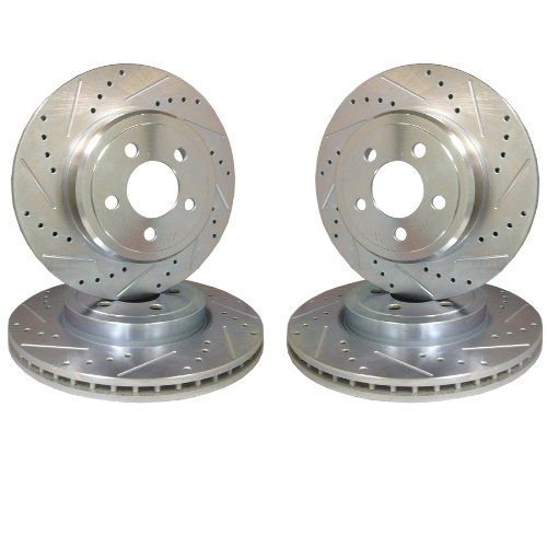 Emil Performance Emil4Ds087 Cross Drilled And Slotted Brake Rotors Chevrolet Camaro