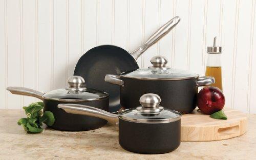Sunbeam 91909.07 Walshford 7-Piece Cookware Set, Matte Texture Charcoal