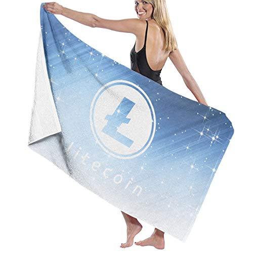 "HUO ZAO Litecoin Plush Bath Towels Beach/Bath/Pool Towel 52"" X 32"""