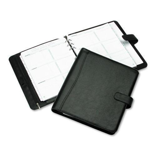 DAYTIMER 84031 Avalon Leatherlike Vinyl Snap-Close Organizer Starter Set, 8-1/2 x 11, Black - Avalon Organizer
