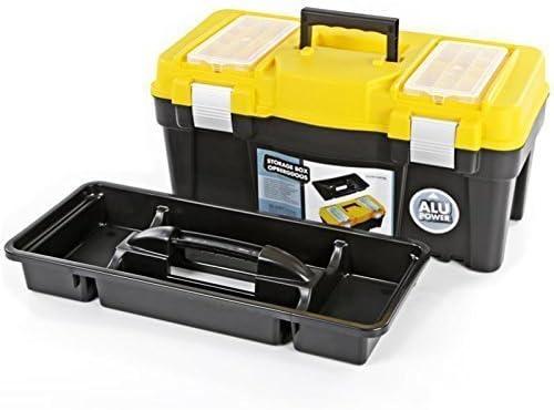 Organizador plástico caja de herramientas bricolaje bandeja estuche carpintero electricista wsmxcf compartimentos con mango: Amazon.es: Bricolaje y herramientas