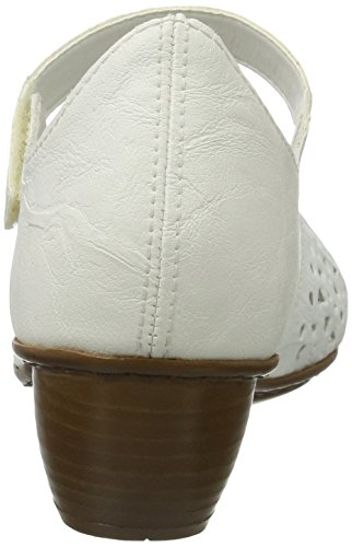 Scarpe 80 Tacco Bianco con Weiss Donna 43795 Rieker 5gnz0vx