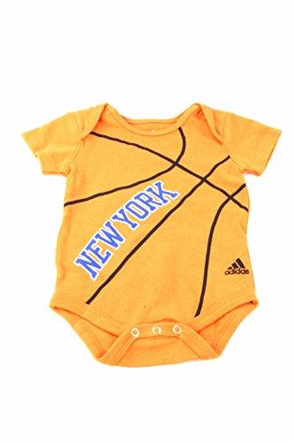 New York Knicks adidas Baby Creeper Bodysuit - Orange (6-9 (Adidas Basketball Onesie)