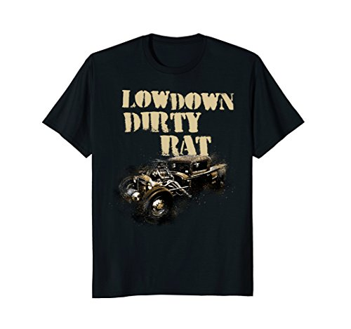 Low Down Dirty Rat Rod Car Show Custom Punk Men's Tshirt ()