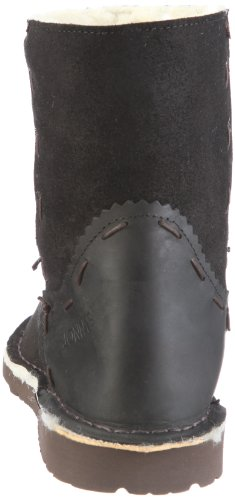 Jonnys Düsseldorf JY-6945 - Botas de ante para mujer Negro (Schwarz/Schwarz)