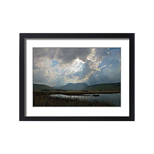Media Storehouse Framed 24x18 Print of Beauty in Nature, Cloud, Day, drakensberg Mountain Range, Hill (18249211)