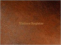 Visitors Register (Visitors Record Book)