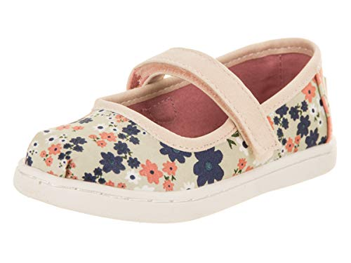 Infants Tiny Feet - TOMS Tiny Toddlers Mary Jane Birch/Retro Floral Slip-On Shoe 2 Infants US