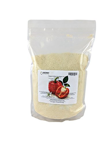 Pepper and Herb Fertilizer 11-11-40 Powder 100% Water Soluble Plus Micro Nutrients and Trace Minerals Greenway Biotech Brand 2 Pounds (Makes 400 Gallons)