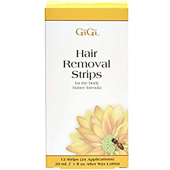 GiGi Hair Removal Strips for the Body - Pre-Waxed with GiGi All-Purpose Honee Formula, 12 Strips