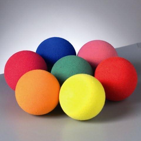 Lot 50 pelotas de goma espuma Ø 20 mm CreaSoft, colores surtidos ...