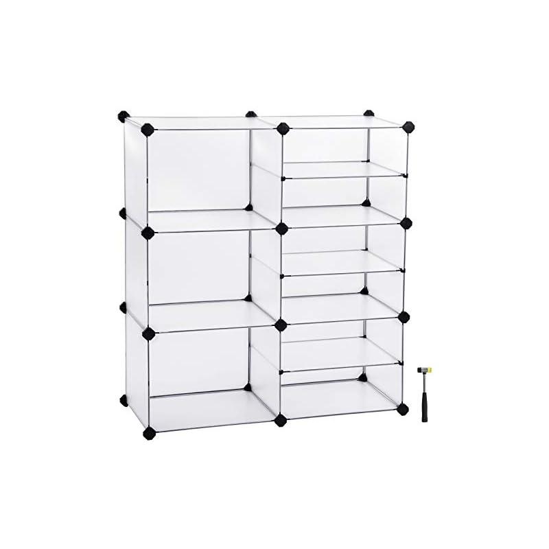 SONGMICS Cube Storage, Interlocking Plas