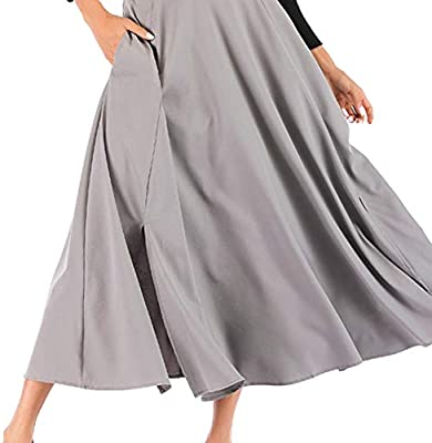 ZEELIY Skirts Women Lace Double Layer Double Layer Pleated Long Maxi Elastic Waist Skirt Straight Yellow Pencil Festival Sale Bodycon with Elastic Waist Short Pleated Long Maxi Skirt