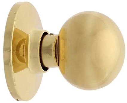 Bright Brass MaxGrade 100OXF3 Oxford Ball Style Passage Hall//Closet Door Knob Lockset