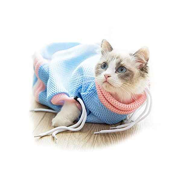 PETCUTE Cat Grooming Bag Cat Washing Bath Bag Mesh Bag for Cat Shower cat Restraint Bag Scratch-Resistant Click on image for further info.
