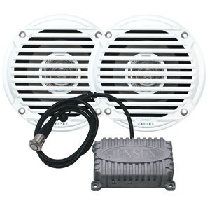 "JENSEN 5.25"" White Dual Cone Waterproof Speakers"