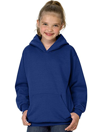 Hanes Youth Comfortblend EcoSmart Pullover Hooded Sweatshirt, L, Deep Royal
