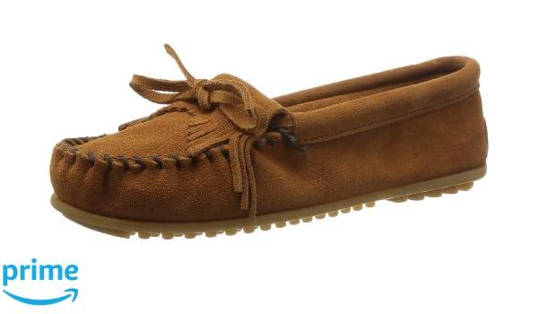 Amazon.com | Minnetonka Womens Suede Kilty Moccasins Brown 9 M US | Slippers