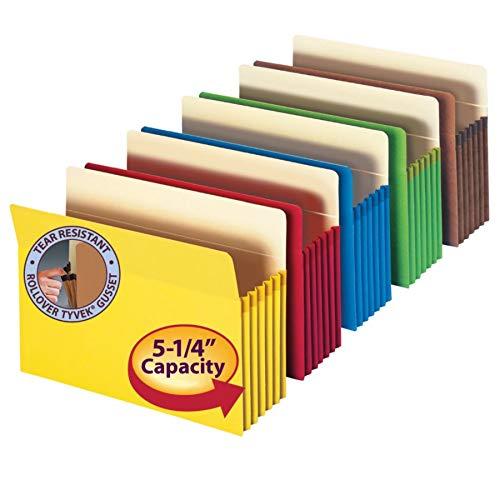 Smead File Pocket, Straight-Cut Tab, 5-1/4