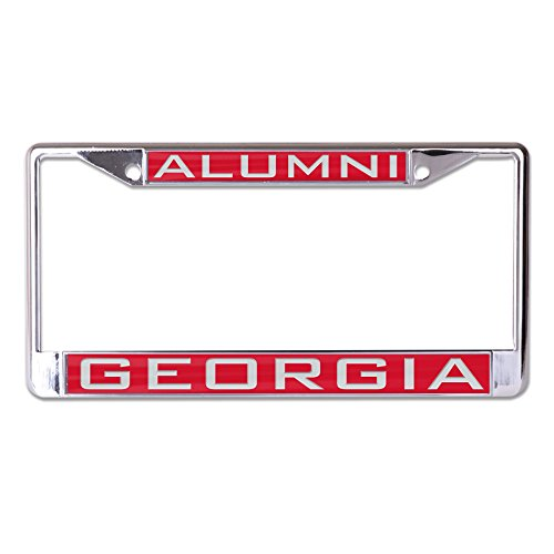 WinCraft NCAA Georgia Bulldogs Alumni Inlaid Metal License Plate Frame, 2-Tag Corners