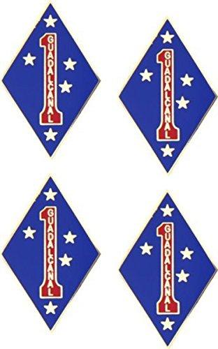 MilitaryBest 1st Marine Division - 5/8 Lapel Pin 4 Pack