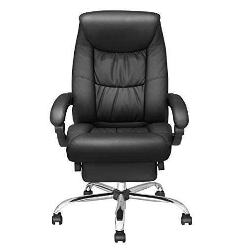Duramont Reclining Office Chair with Lumbar Support - High Back Executive Chair - Thick Seat Cushion - Ergonomic Adjustable Seat Height and Back Recline - Desk and Task Chair by Duramont (Image #6)