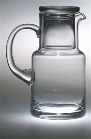 Majestic Gifts European Individual Water Set, Carafe with Glass, 28 oz