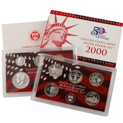 (2000 S U.S. Mint Silver Proof Set - 10 Coins - OGP Superb Gem)