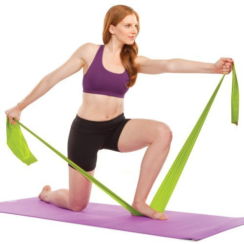 The Firm Pilates Band with DVD, Green (Medium)