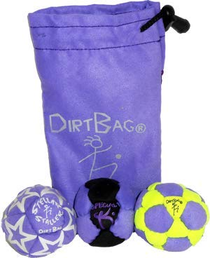 Dirtbag Medley Footbag Hacky Sack 3 Pack - Fluorescent Yellow/Purple by Dirtbag