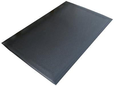 "Rhino Mats DS-3648 Dura Step Anti-Fatigue Mat, 3' Width x 4' Length x 1/2"" Thickness, Black"