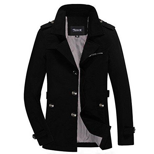 Black Militare New Outerwear A Casual Con Da Collo 2016 Zicac Aderente Petto Uomo Parka Giacca Donna Maniche Lunghe Trench Spring Blazer Cappotti Ripiegato Stile Autumn qA5SnIw