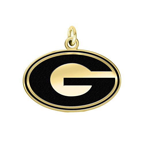 University of Georgia Bulldogs 14k Yellow Gold Cut Out Logo College Charm (3/4
