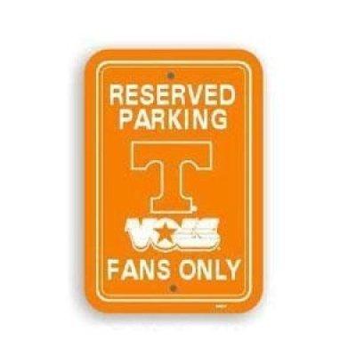 Fremont Die Tennessee Volunteers Plastic Parking Sign