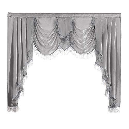 NAPEARL Polyester Satin Curtain Valance (Gray, 1 Valance 61
