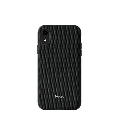 Evutec Compatible with iPhone XR, Ballistic Nylon Premium Protective Military Grade Drop Tested Shockproof Phone Case-Black (AFIX+ Magnetic Mount Included)